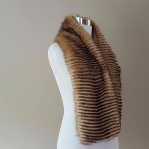 Faux Fur Scarf Chico's Satin Lining